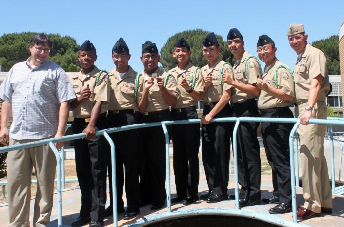 Cadets holding up Yubikeys