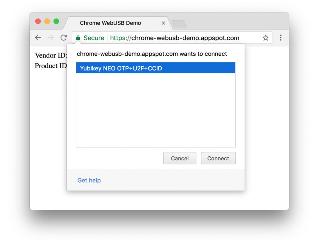 chrome webusb demo web tab