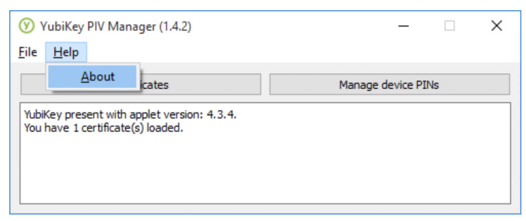 PIV Manager GUI tool help settings
