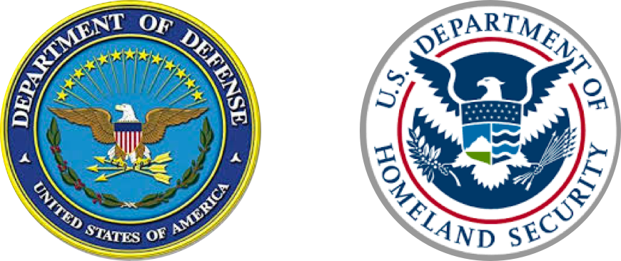 Department of Defense and Homeland Security logos