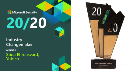 2020 Microsoft Security Award for Industry Changemaker