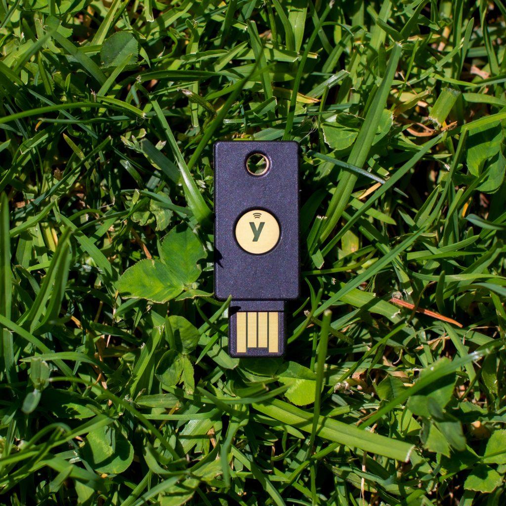 YubiKey in grass