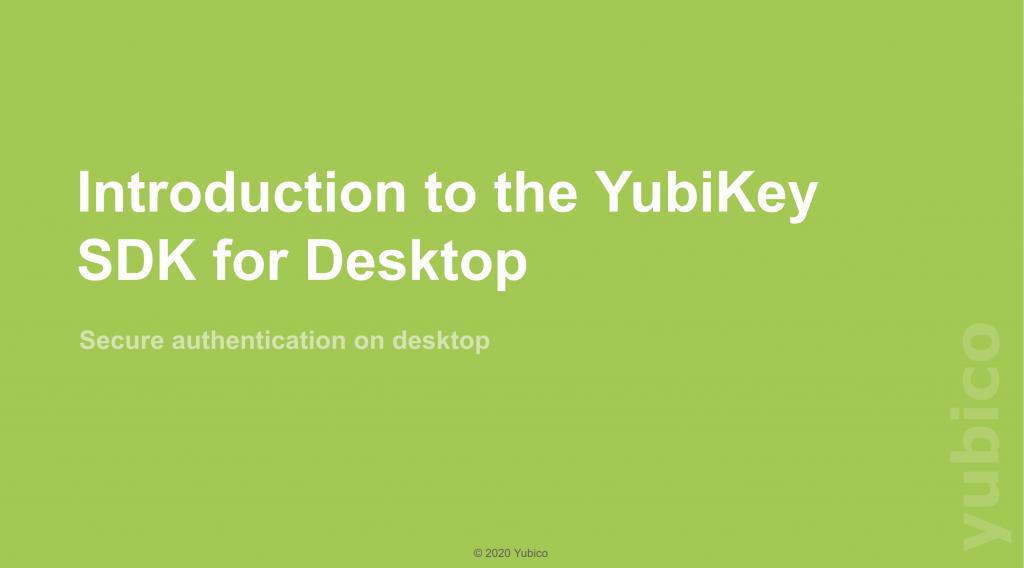 sdk for desktop webinar slide