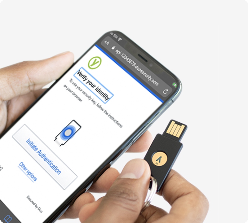 duo and yubikey on mobile