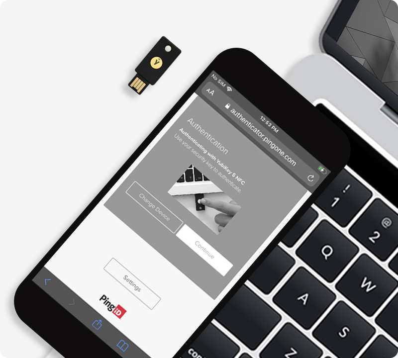 ping and yubikey on mobile
