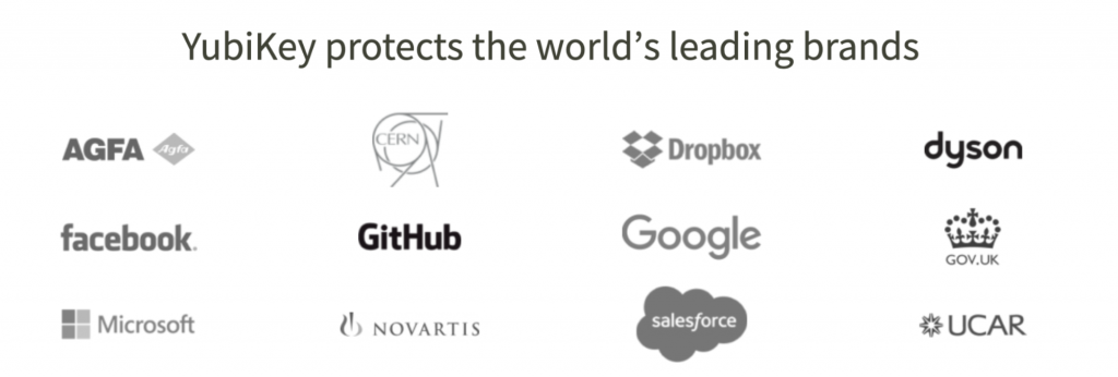 array of logos
